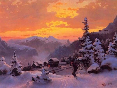 Sunset Diamond Painting Kit - Soft Snow Landscape-Square 15x20cm- - Paint With Diamonds