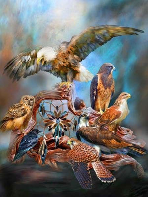 Carol Cavalaris Diamond Painting Kit - Spirit Birds-Square 15x20cm- - Paint With Diamonds