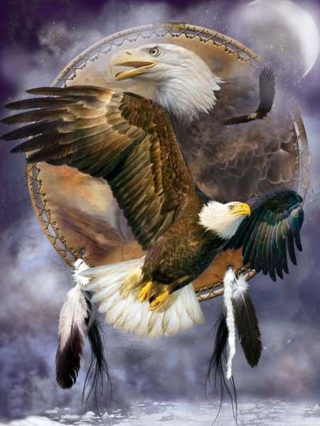 Eagle Diamond Painting Kit - Spirit Eagle-Square 15x20cm- - Paint With Diamonds