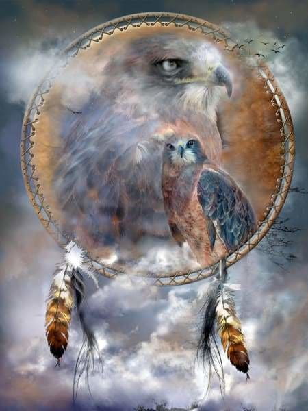 Carol Cavalaris Diamond Painting Kit - Spirit Of Hawk-Square 15x20cm- - Paint With Diamonds