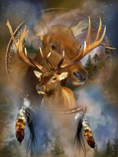 Carol Cavalaris Diamond Painting Kit - Spirit Of The Elk-Square 15x20cm- - Paint With Diamonds