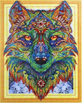 Wolf Diamond Painting Kit - Spiritual Wolf (Crystal Diamonds - Special Shapes)-40x50cm- - Paint With Diamonds