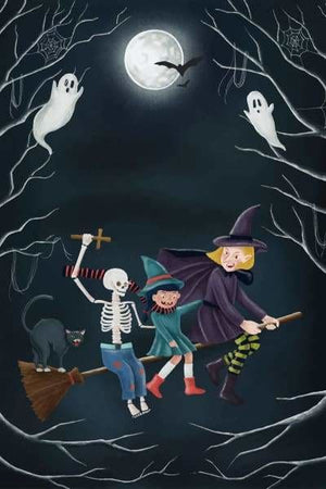 Moon Diamond Painting Kit - Spooky Halloween-Square 20x30cm- - Paint With Diamonds