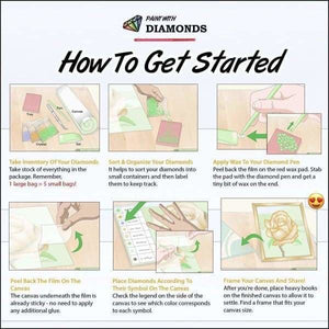Partial Diamond Painting Kit - Take My Hand (Crystal Diamonds - Special Shapes)-40x50cm- - Paint With Diamonds