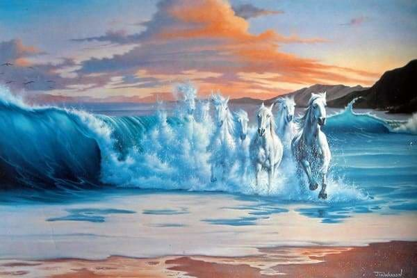 Ocean Diamond Painting Kit - The Wave-Square 20x30cm- - Paint With Diamonds