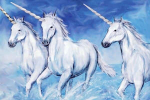 Unicorn Diamond Painting Kit - Three Unicorns-Square 20x30cm- - Paint With Diamonds