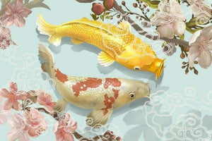 Fish Diamond Painting Kit - Two Japanese Koi-Square 20x30cm- - Paint With Diamonds