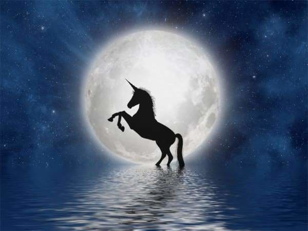 Unicorn Diamond Painting Kit - Unicorn Against The Moon-Square 15x20cm- - Paint With Diamonds