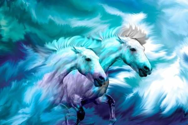 Unicorn Diamond Painting Kit - Unicorn Horses-Square 20x30cm- - Paint With Diamonds
