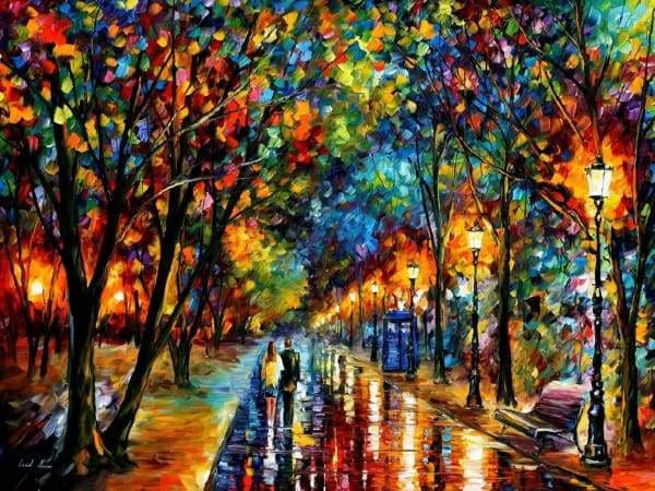 Afremov Diamond Painting Kit - When Dreams Come True-Square 15x20cm- - Paint With Diamonds