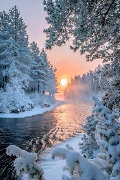 Sunset Diamond Painting Kit - Winter Wonderland-Square 20x30cm- - Paint With Diamonds