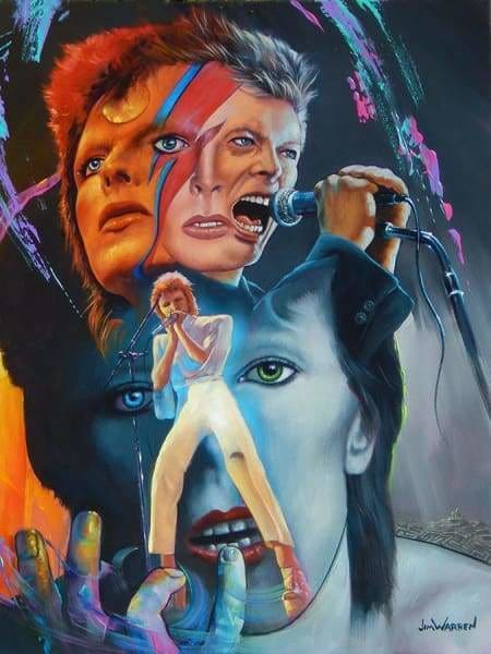Jim Warren Diamond Painting Kit - Ziggy Stardust-Square 15x20cm- - Paint With Diamonds