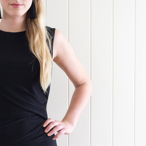 inBLACK. Jersey Drape Dress