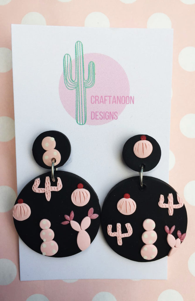 inBLACK. x Craftanoon Black Cactus Dangle Earrings