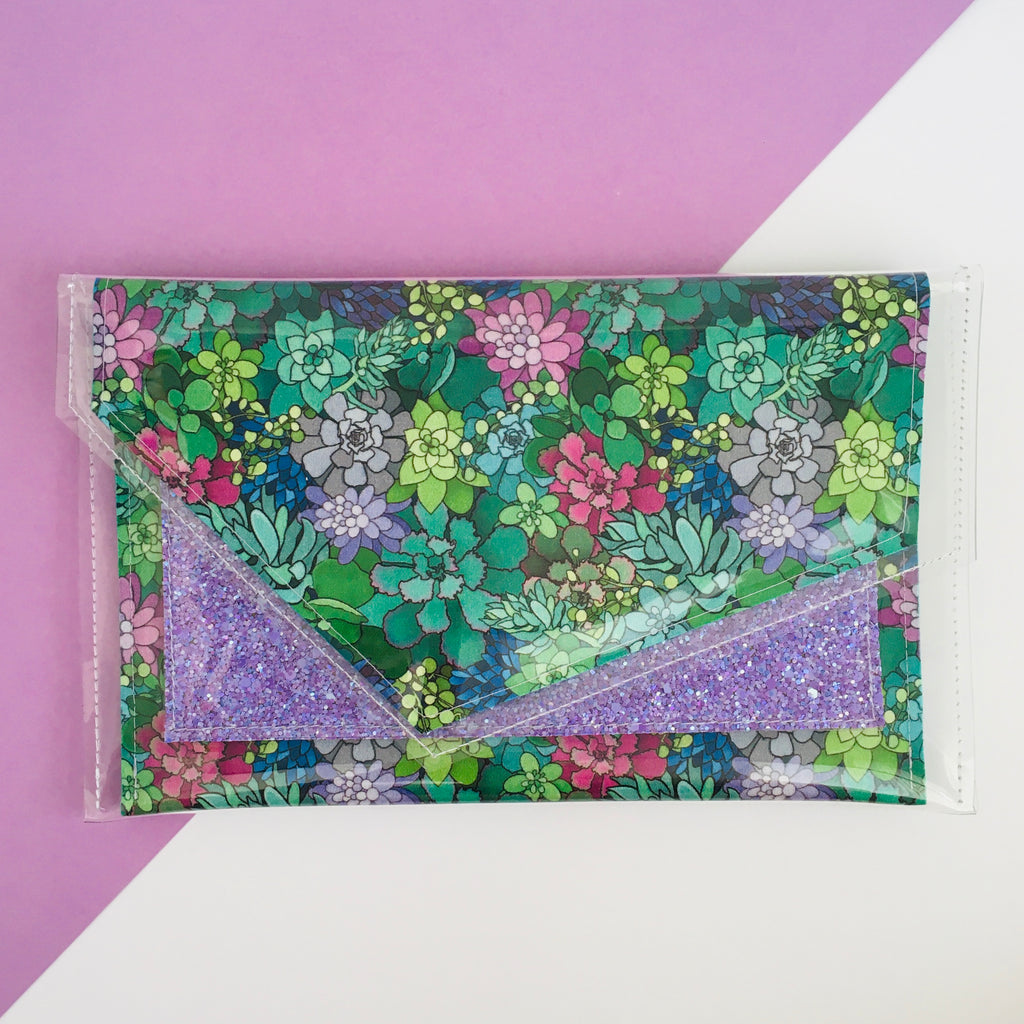 inBLACK. + Kasey Rainbow + Pine and Apple Pocket Clutch Lilac