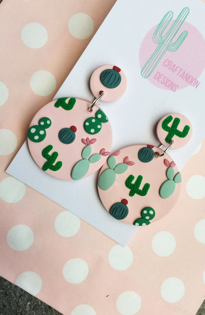 inBLACK. x Craftanoon Pink Cactus Dangle Earrings
