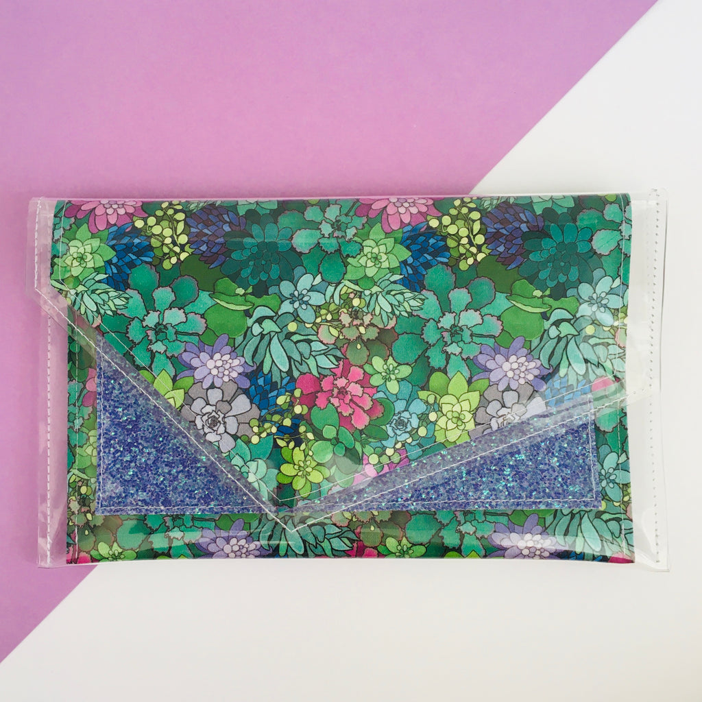inBLACK. + Kasey Rainbow + Pine and Apple Pocket Clutch Indigo
