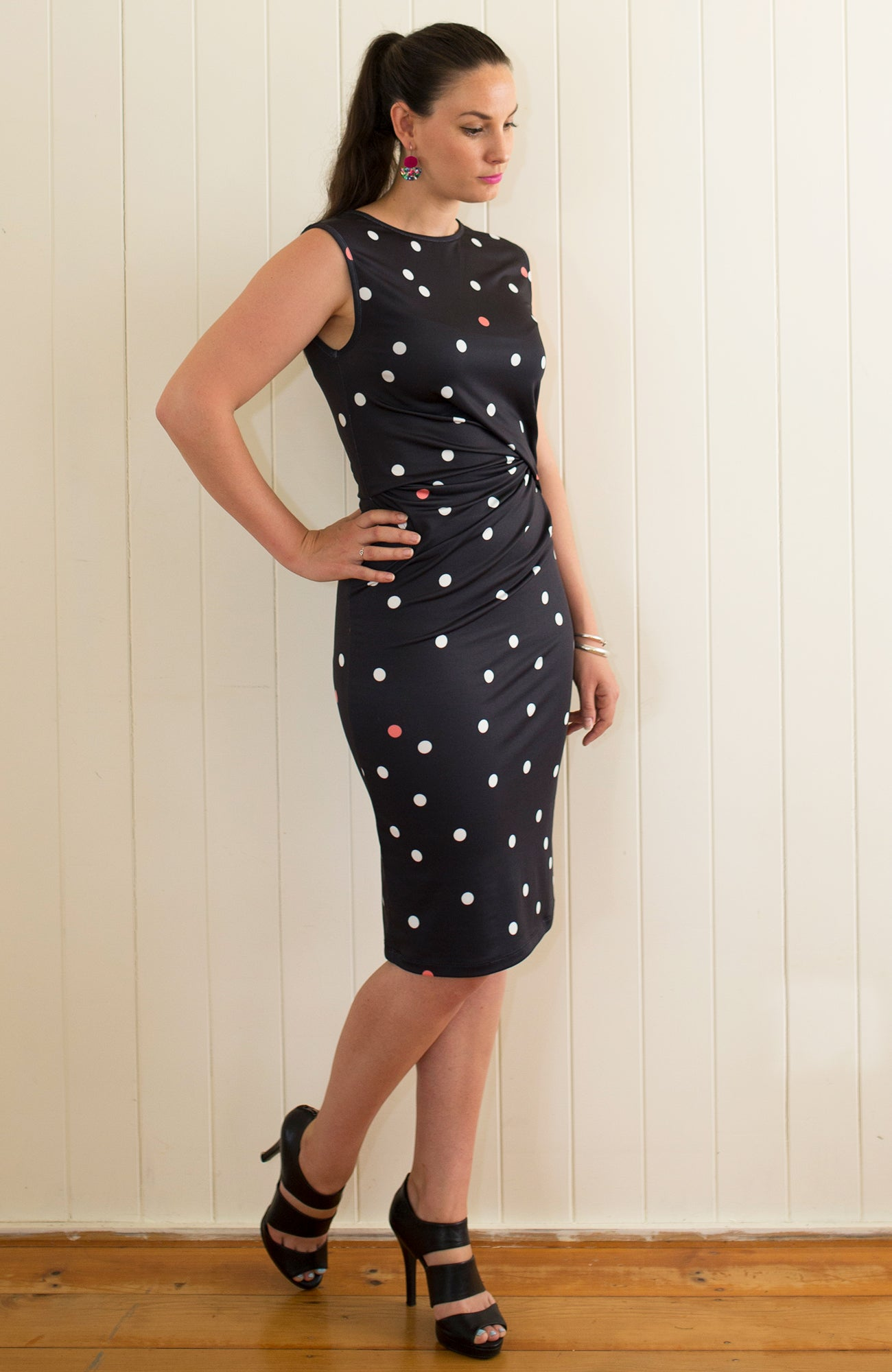 Noir Dress in Black Spot - inBLACK. The Label | Women's Black Dresses