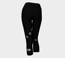 Black Star Print Cropped Legging - Fit Bitch Club