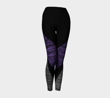 Sketchy Workout Legging in Black & Purple - Fit Bitch Club