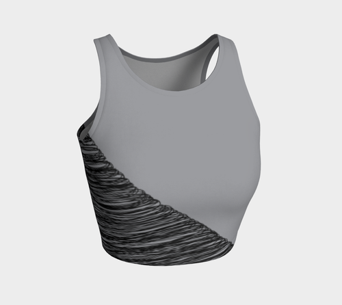 Sketchy Grey Cropped Fitness Top - Fit Bitch Club