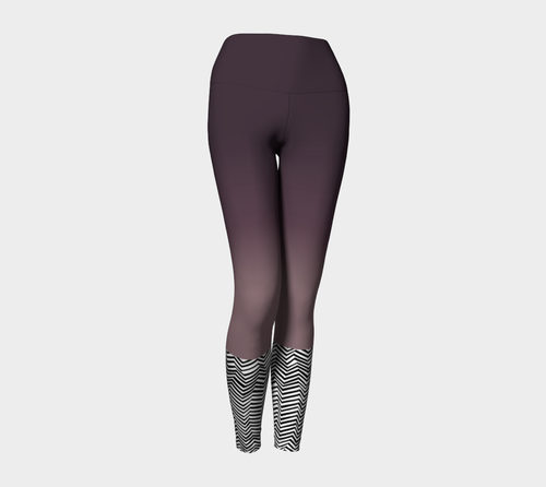 Zig Zag Workout Leggings in Purple Ombre - Fit Bitch Club