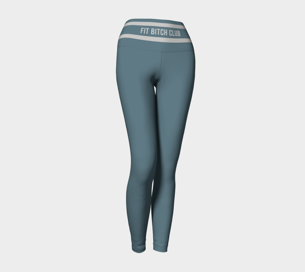 Original Logo Legging in Dusty Blue - Fit Bitch Club