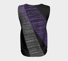 Sketchy Loose Tank Top Black & Purple - Fit Bitch Club