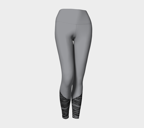 Sketchy Workout Legging in Grey & Black - Fit Bitch Club