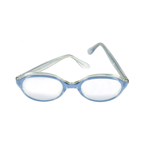 Vintage Trans World Eyewear Eyeglasses (no lens) Blue Satin by L. Evrard 52-20-137 - Eyeqglass