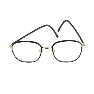 High Fashion Young Peoples Eyeglasses Black Square Frame 51-18 Made in Italy - Eyeqglass
