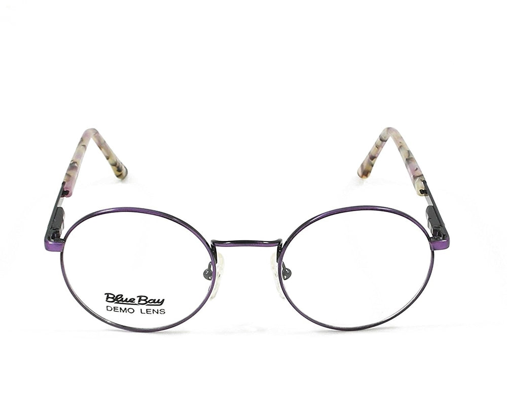 Blue Bay Eyeglasses Dark Purple Temple Mod. Nantucket Col. 19 Size. 49-20-140