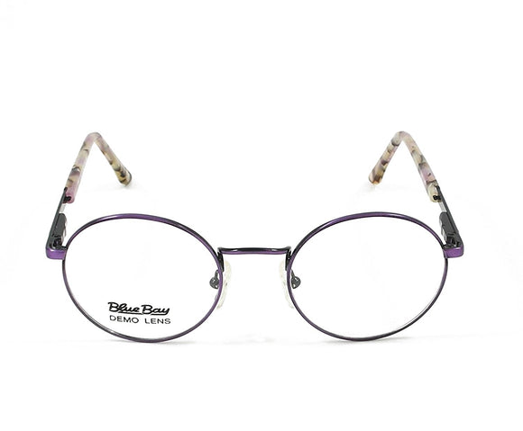 Blue Bay Eyeglasses Dark Purple Temple Mod. Nantucket Col. 19 Size. 49-20-140 - Eyeqglass
