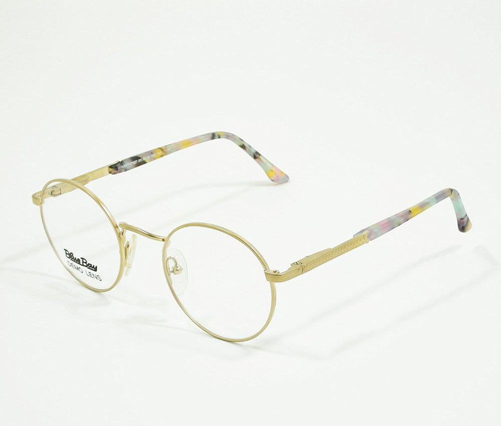 Blue Bay Eyeglasses Purple Gold Temple Mod. Nantucket Col. 20 Size. 47-20-135 - Eyeqglass