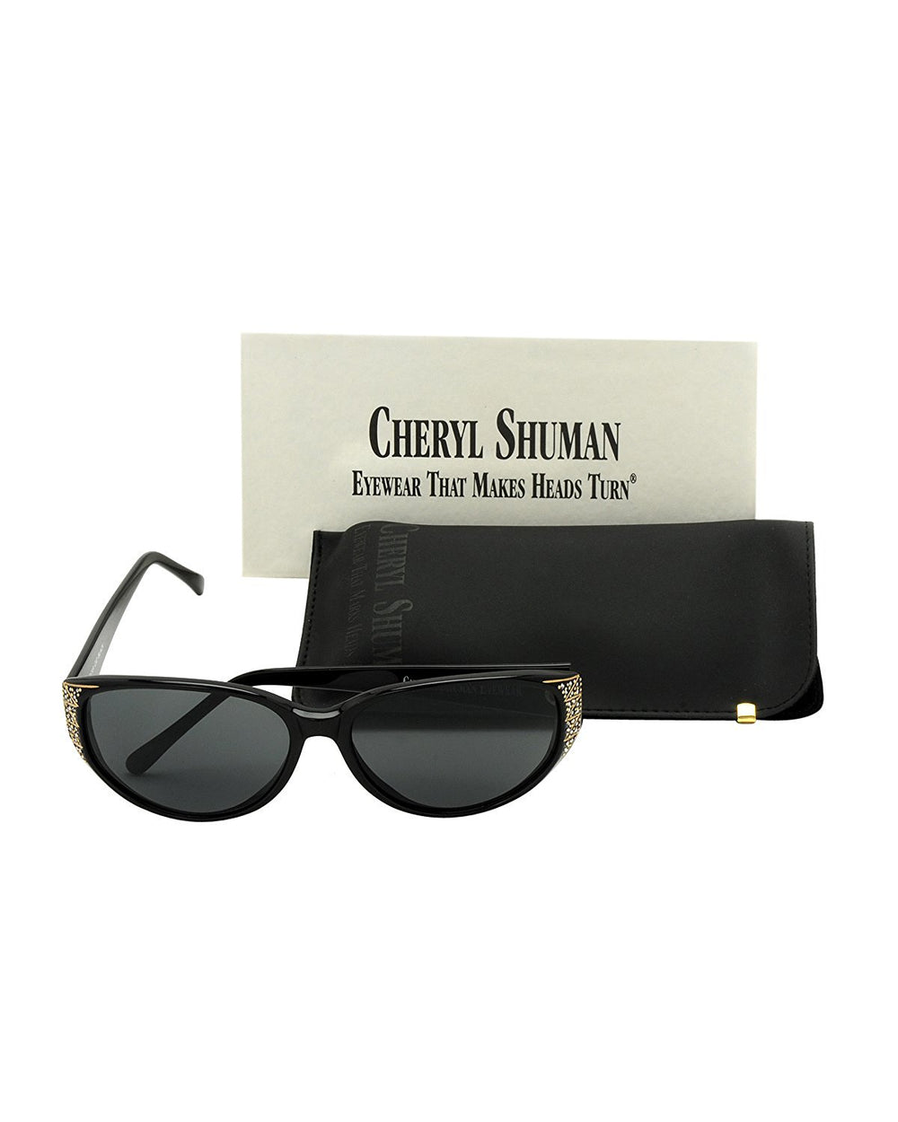 Cheryl Shuman Sunglasses Oscar Cat Black 58-15-132