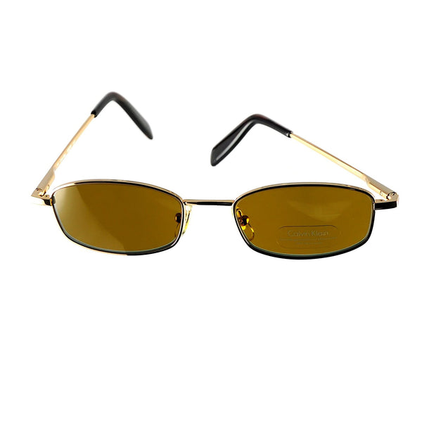 Calvin Klein Sunglasses Ck 166s Gold Tempered Glass - Eyeqglass