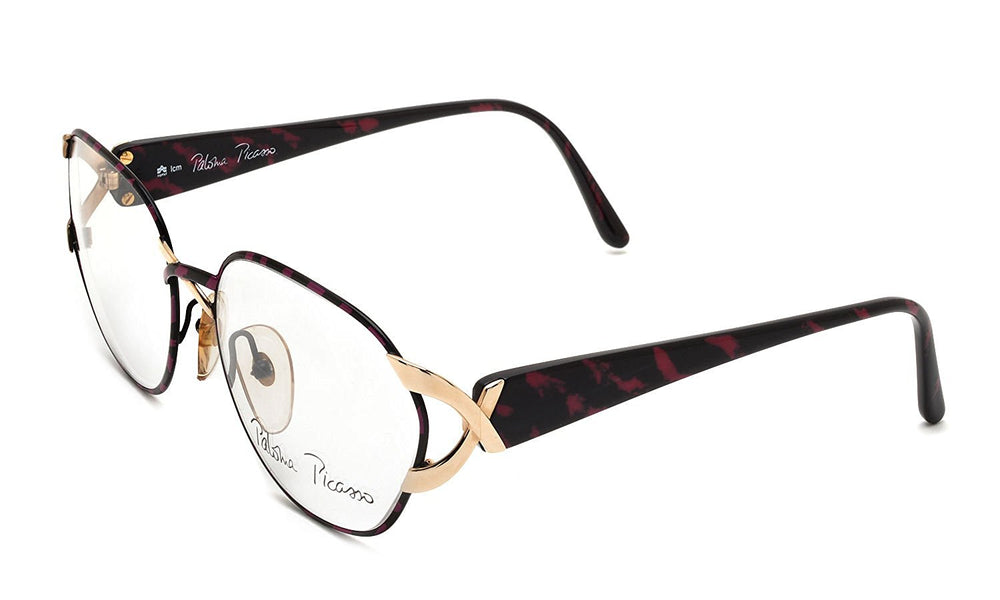 Paloma Picasso Eyeglasses 3717 44 Black Pink Tortoise 59-18-135 Made in Austria