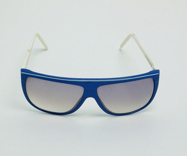 Liz Claiborne Vintage Sunglasses Blue White Made in Italy - Eyeqglass