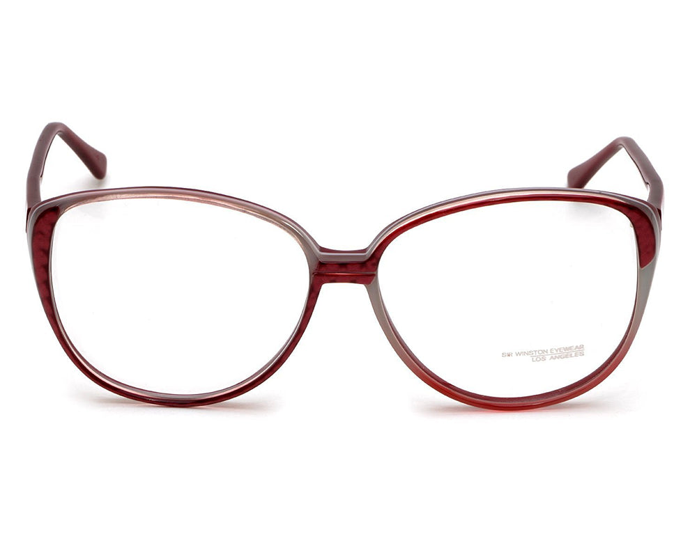 Sir Winston Eyeglasses 4280 Burgundy 956 58-16 Made in Italy - Eyeqglass