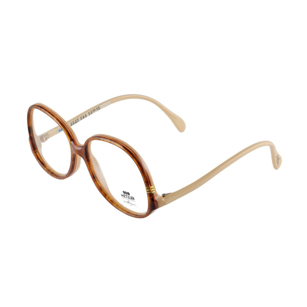 Metzler Eyeglasses 0607 en Vogue col. 866 Gold Brown 58-16-140 Made in Germany