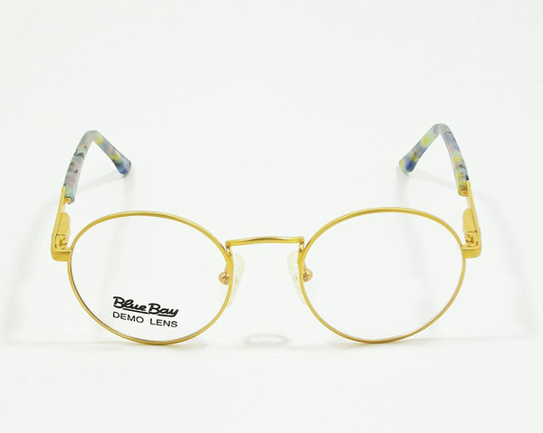 Blue Bay Eyeglasses Blue Gold Temple Mod. Nantucket Col. 20 Size. 47-20-135