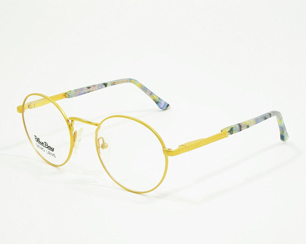 Blue Bay Eyeglasses Blue Gold Temple Mod. Nantucket Col. 20 Size. 47-20-135 - Eyeqglass
