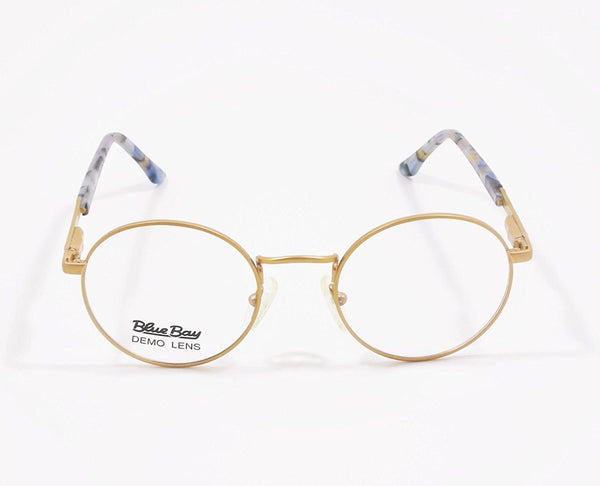 Blue Bay Eyeglasses Blue Gold Temple Mod. Nantucket Col. 20 Size. 49-20-140