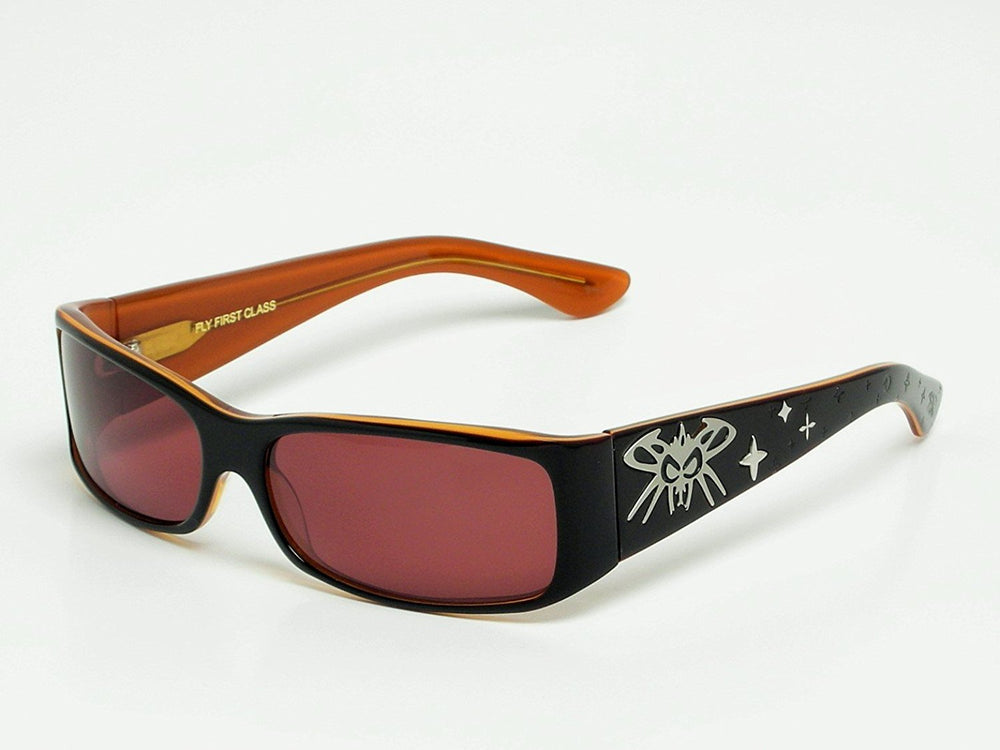 Black Flys Sunglasses LOUIS FLYTTON Handmade Fly First Class - Eyeqglass