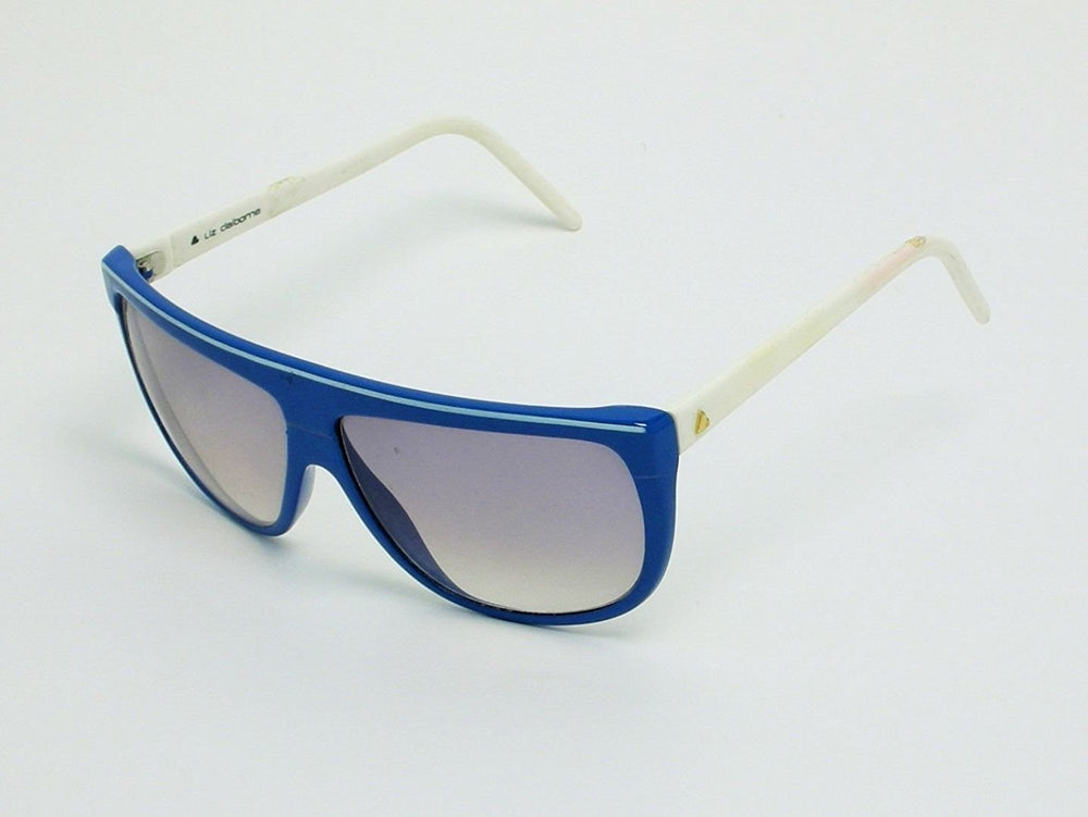 Liz Claiborne Vintage Sunglasses Blue White Made in Italy