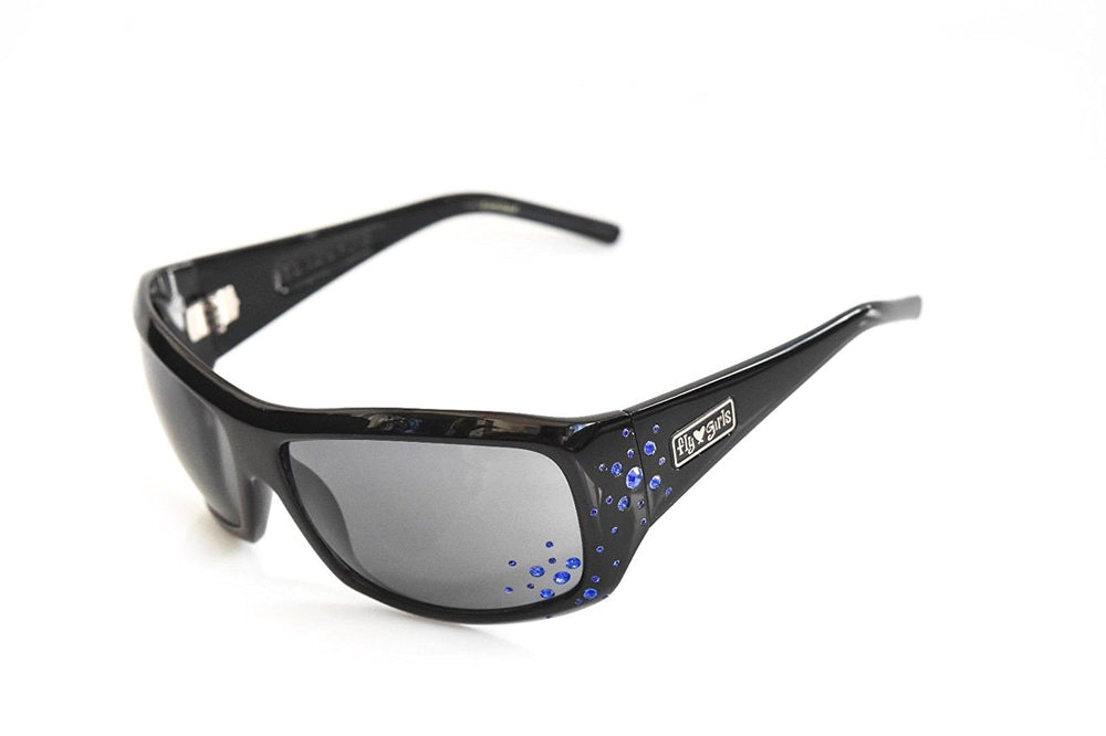 8e6b7b8d6e7 ... Black Flys Sunglasses SNOW FLY with Blue Rhinestones Black Limited ...