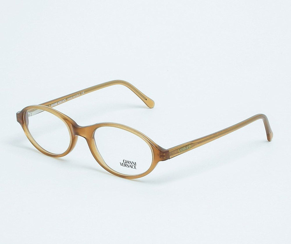 Gianni Versace Eyeglasses V20 Col. A38 Light Brown 48-18 Made in Italy - Eyeqglass