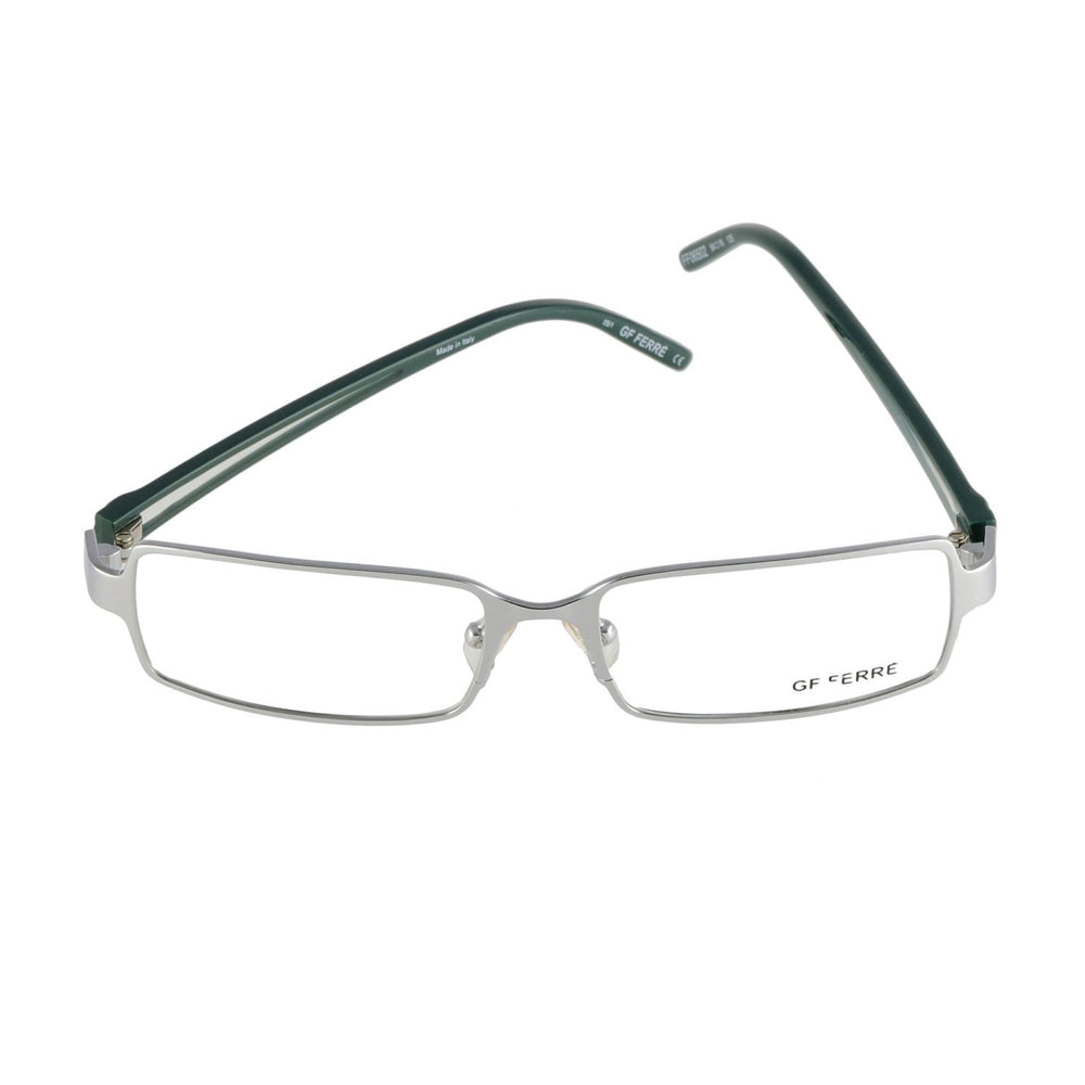 GianFranco Ferre Eyeglasses FF 06502 05/1 Silver Dark Green 54-16-135 Made in Italy - Eyeqglass