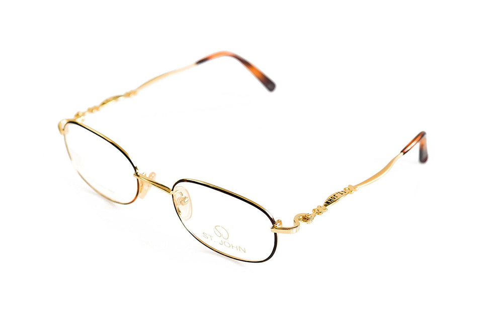 St. John Eyeglasses S-004 Tortoise 48-20-130 Made in Italy