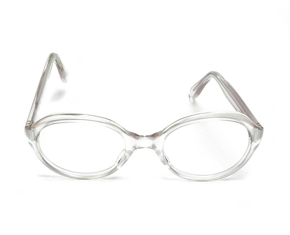 Trans World Eyewear Vintage Eyeglasses (no lens) White Satin by L. Evrard 52-22